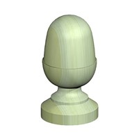 "Birkdale 100mm (4"") Green decorative acorn finial manufactured from slow grown pine."